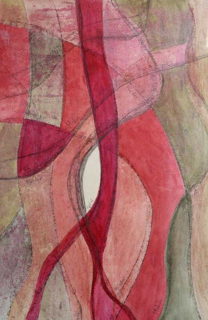 Naturfarben; Mohn und Flieder